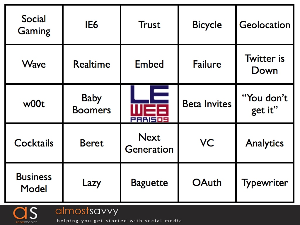 LeWeb Bingo! Watch and Play Along!