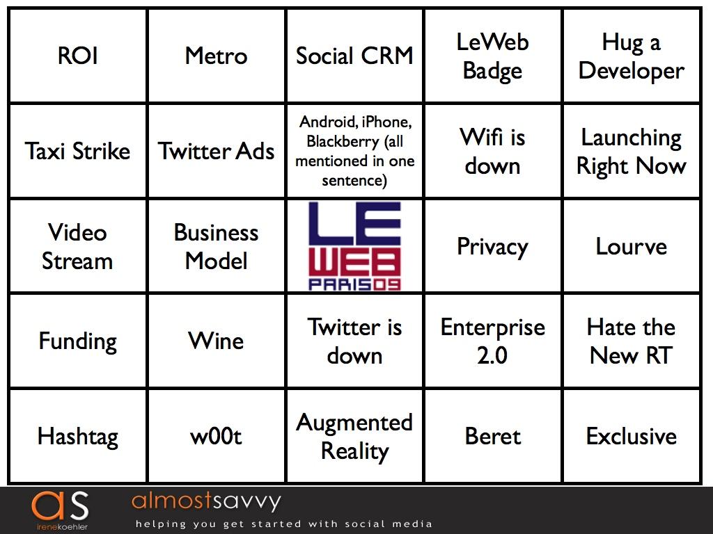 LeWeb bingo1.001