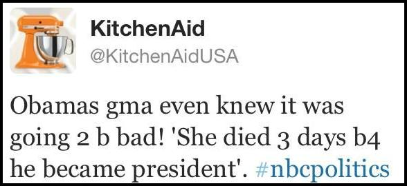 kitchenaid debate obama tweet